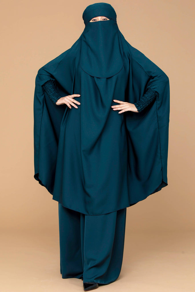 Mahasen Jilbab Set in Jade  | Al Shams Abayas 1