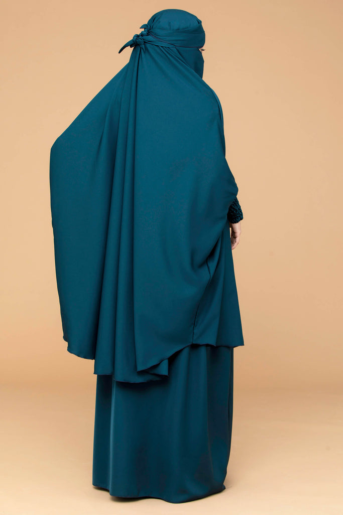Mahasen Jilbab Set in Jade  | Al Shams Abayas 5