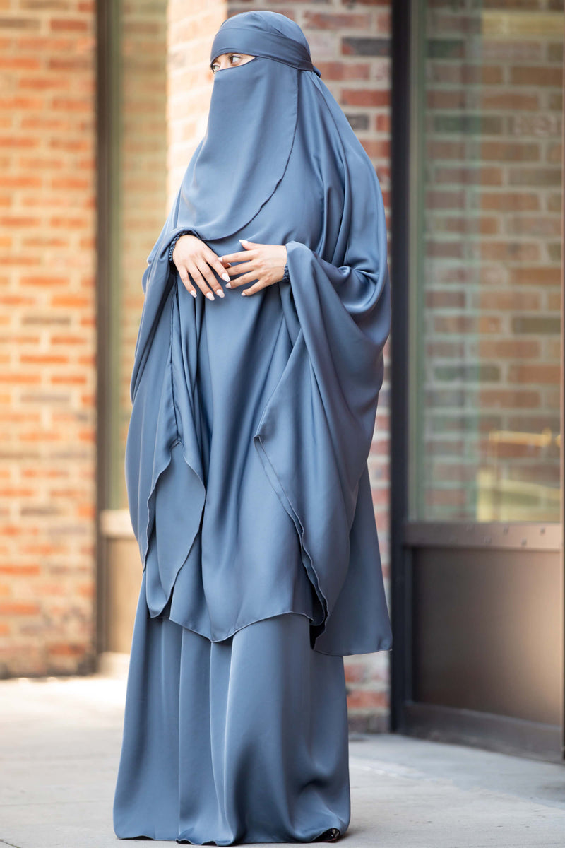 Mahasen Jilbab in Steel Blue | Al Shams Abayas 1