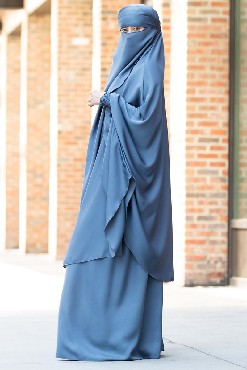 Mahasen Jilbab in Steel Blue | Al Shams Abayas 7