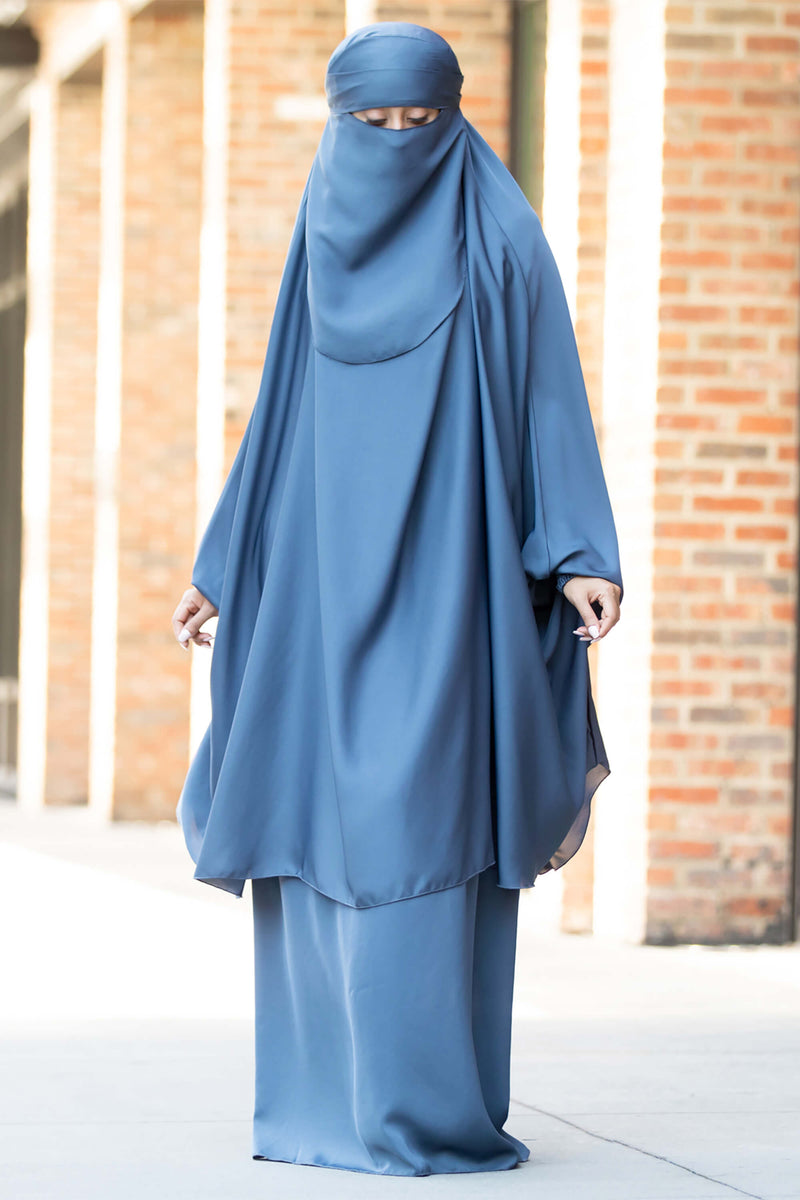 Mahasen Jilbab in Steel Blue | Al Shams Abayas 8