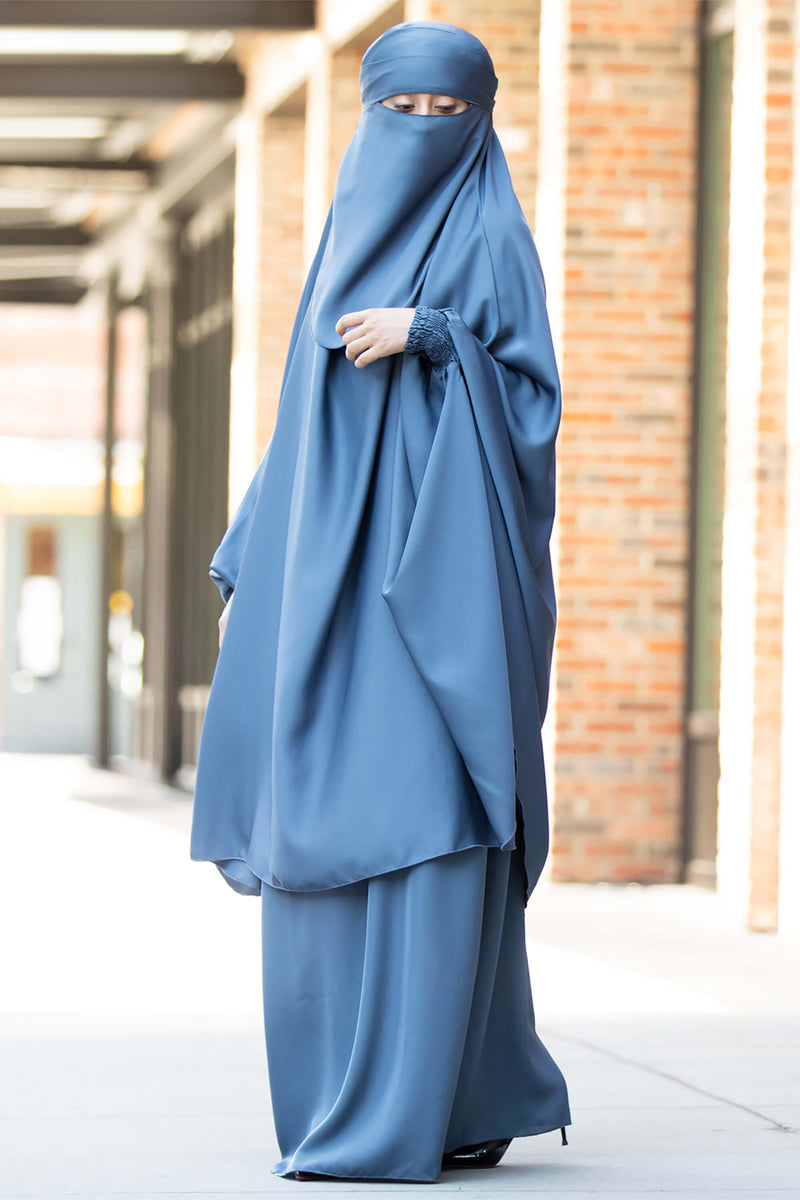 Mahasen Jilbab in Steel Blue | Al Shams Abayas 11