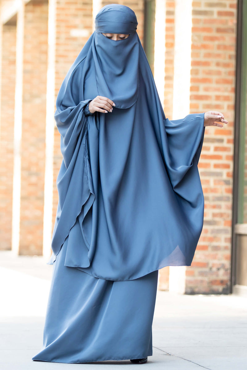 Mahasen Jilbab in Steel Blue | Al Shams Abayas 10