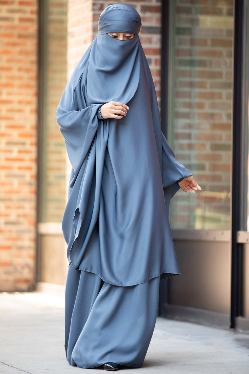 Mahasen Jilbab in Steel Blue | Al Shams Abayas 2