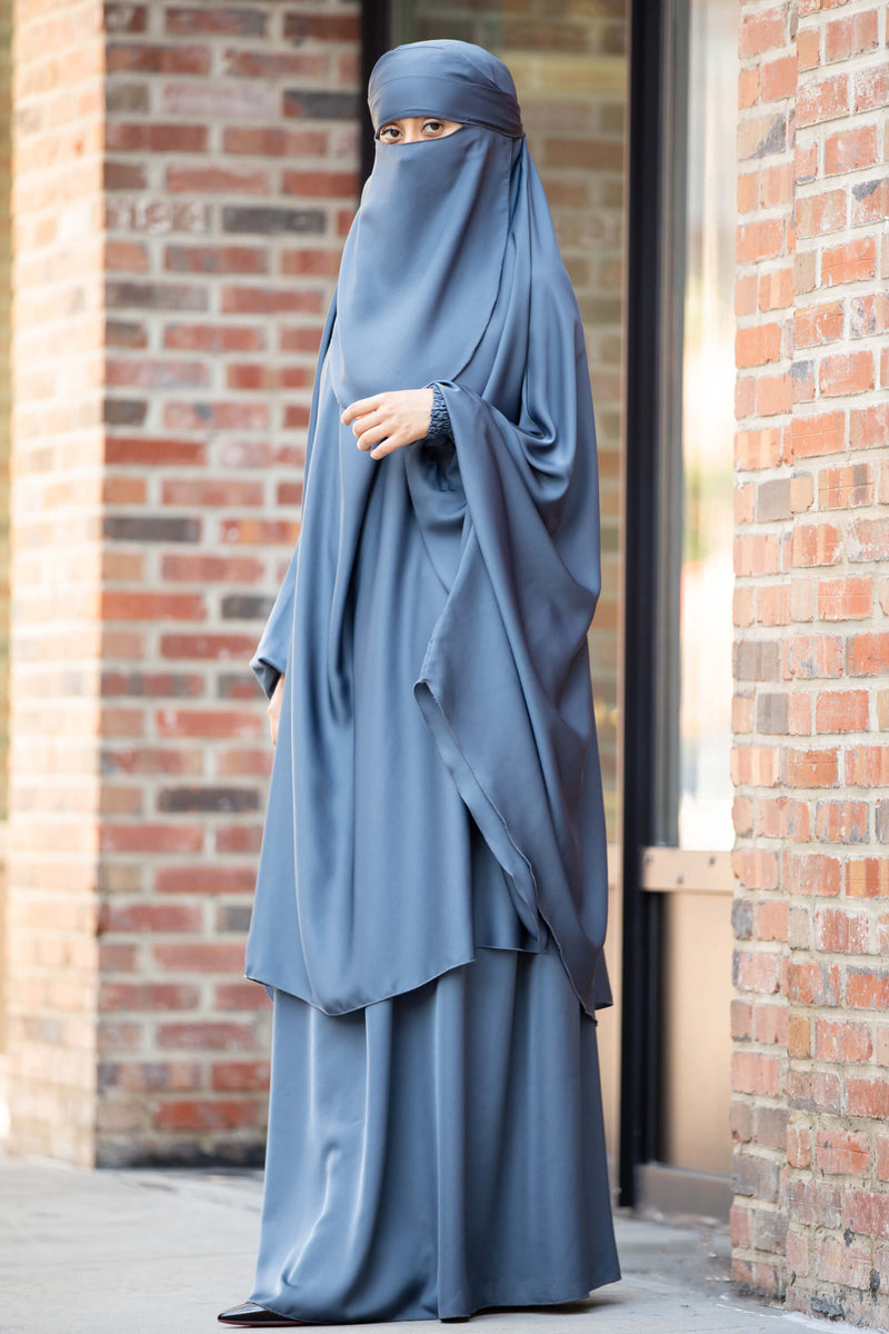 Mahasen Jilbab in Steel Blue | Al Shams Abayas 3