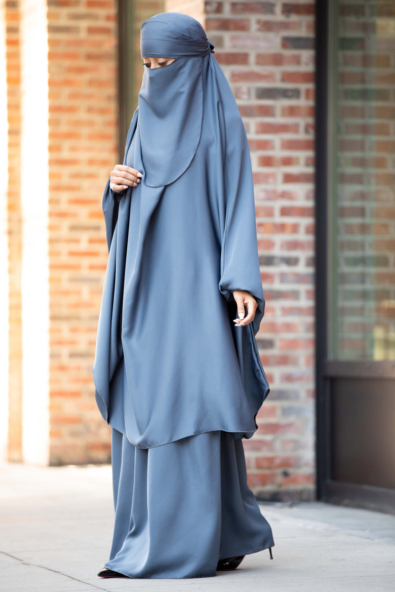 Mahasen Jilbab in Steel Blue | Al Shams Abayas 4