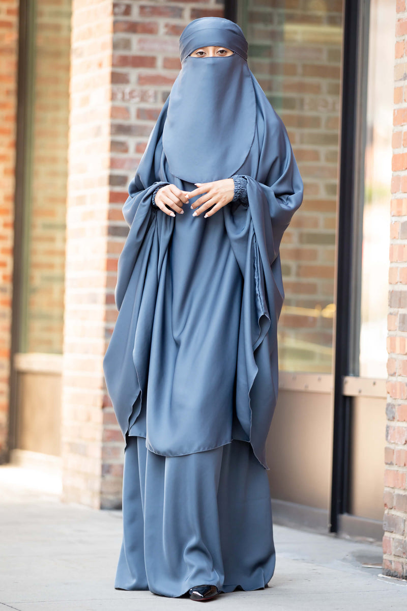 Mahasen Jilbab in Steel Blue | Al Shams Abayas 5