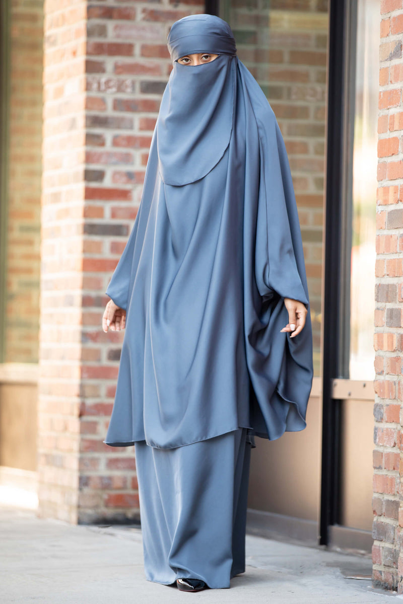 Mahasen Jilbab in Steel Blue | Al Shams Abayas 6