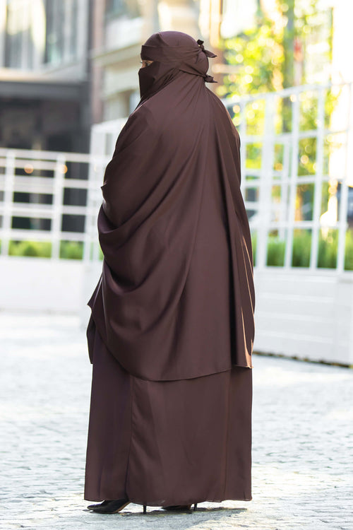 Mahasen Jilbab in Chocolate | Al Shams Abayas 2