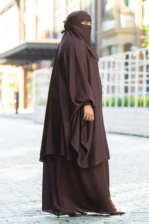 Mahasen Jilbab in Chocolate | Al Shams Abayas 1