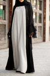 Essential Maxi in Pastel Grey | Al Shams Abayas 5