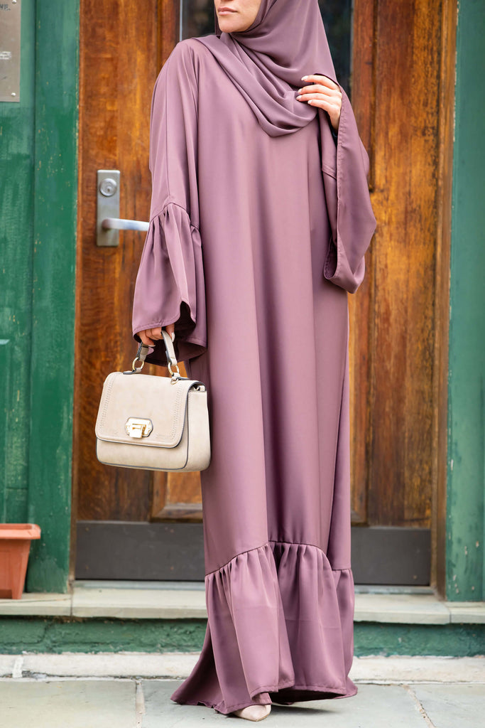 Monica Abaya in Rose Cocoa | Al Shams Abayas 1