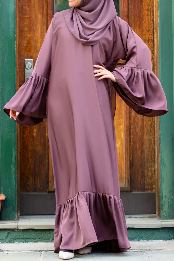 Monica Abaya in Rose Cocoa | Al Shams Abayas 5