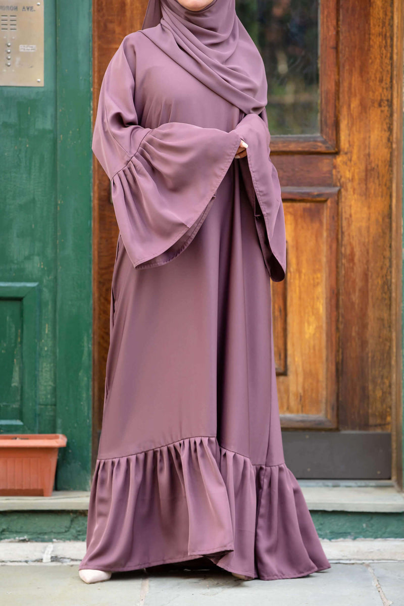 Monica Abaya in Rose Cocoa | Al Shams Abayas 2