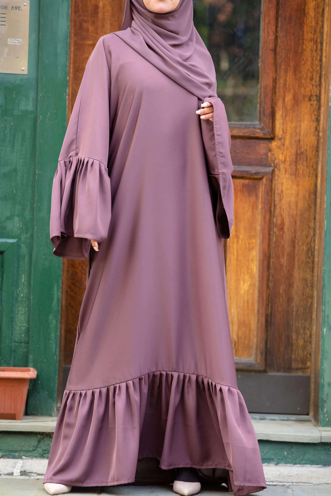 Monica Abaya in Rose Cocoa | Al Shams Abayas 3