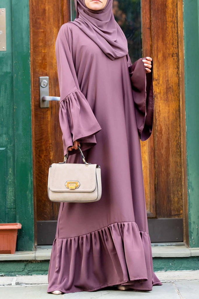 Monica Abaya in Rose Cocoa | Al Shams Abayas 4