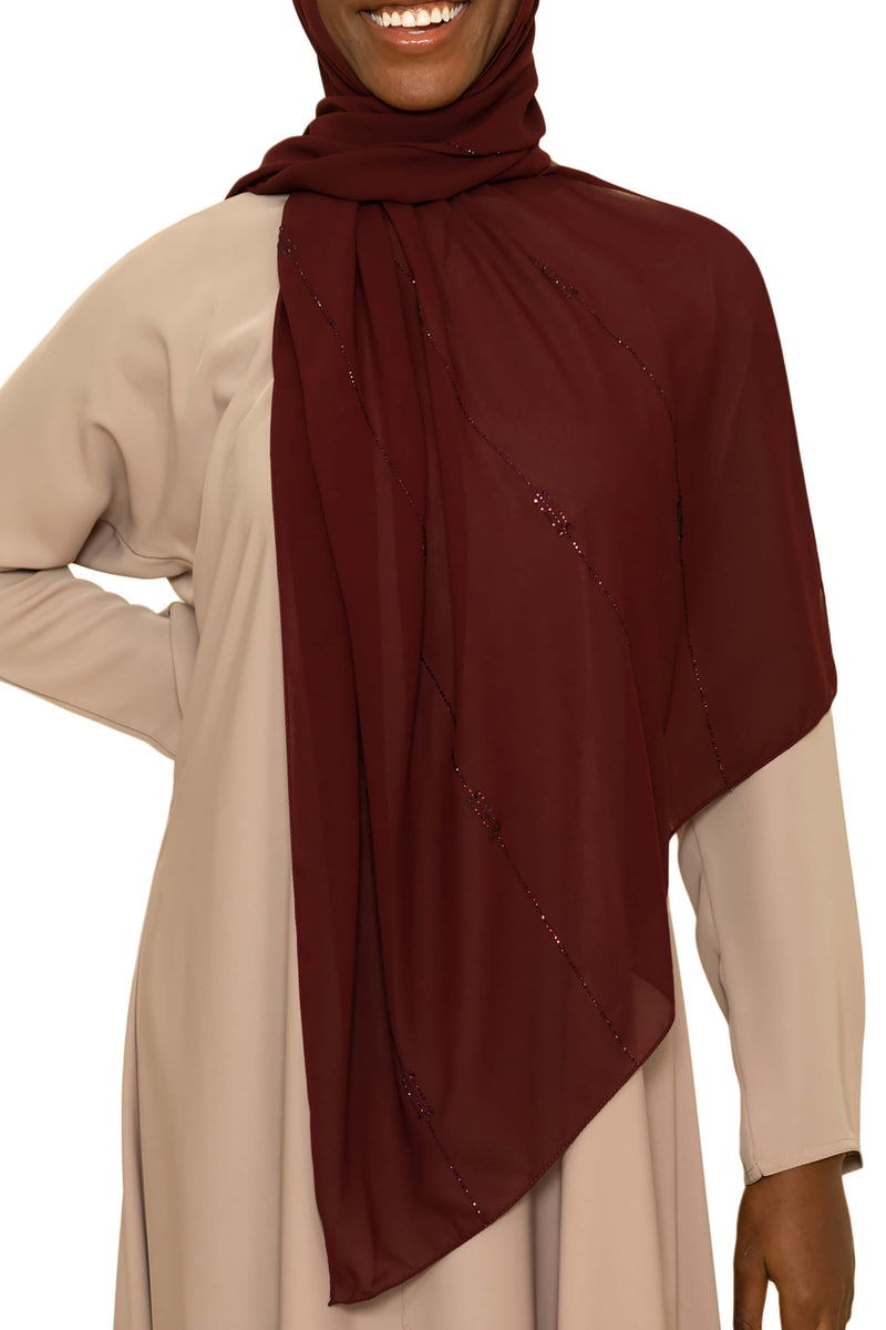 Sincerity in Cranberry Crush | Al Shams Abayas -3