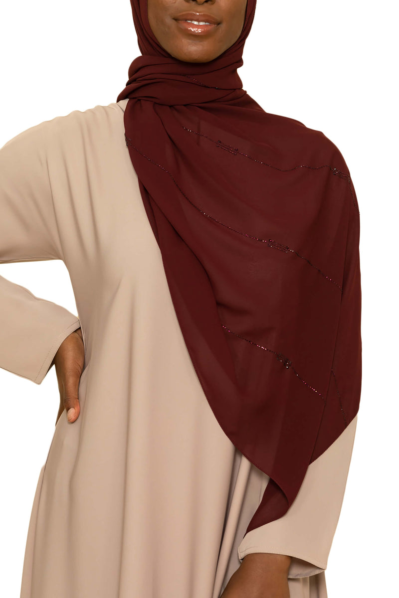 Sincerity in Cranberry Crush | Al Shams Abayas -4