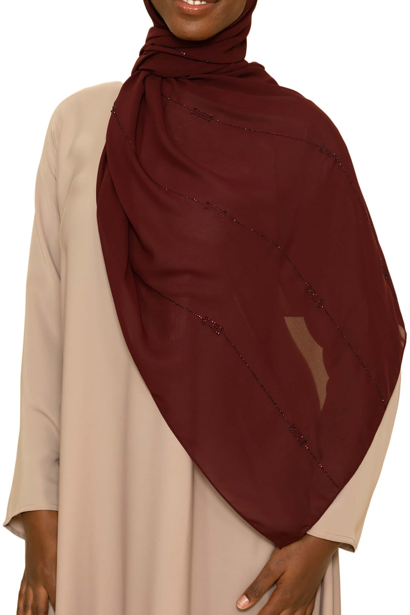 Sincerity in Cranberry Crush | Al Shams Abayas -5