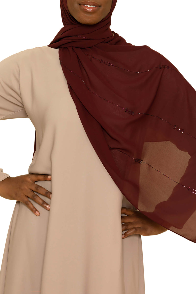 Sincerity in Cranberry Crush | Al Shams Abayas -2