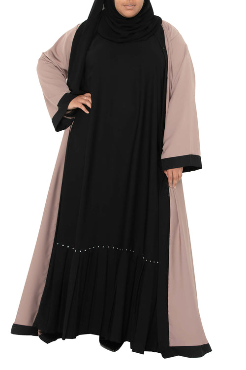 Plus Size Essential Maxi in Classic Black | Al Shams Abayas 1