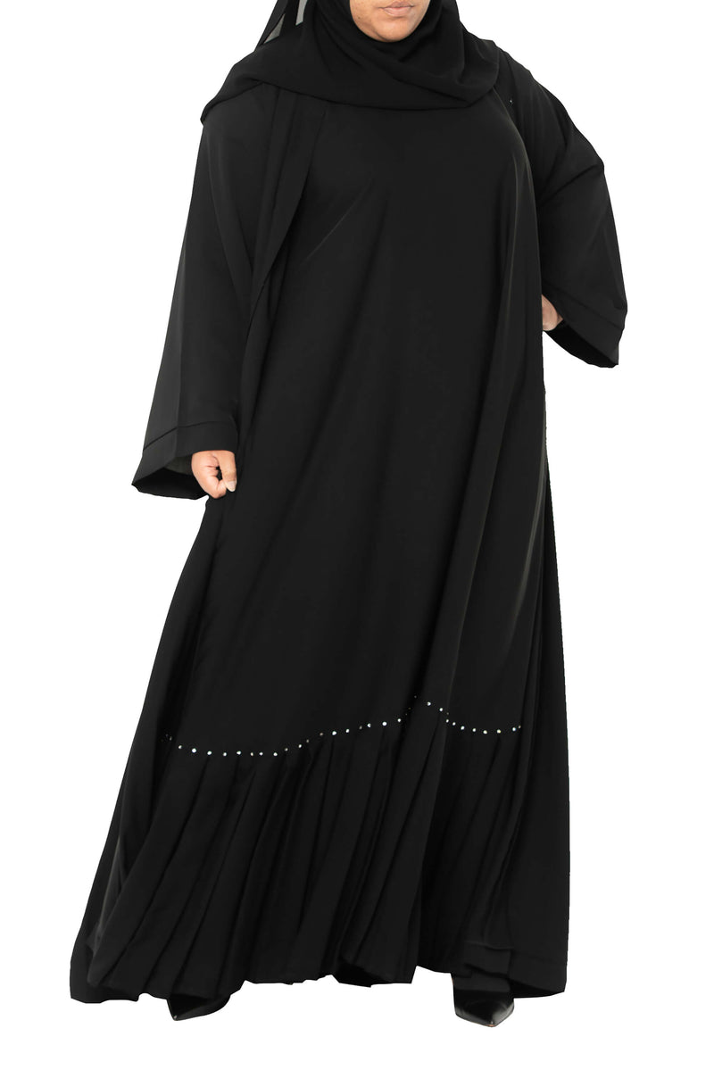 Plus Size Essential Maxi in Classic Black | Al Shams Abayas 8