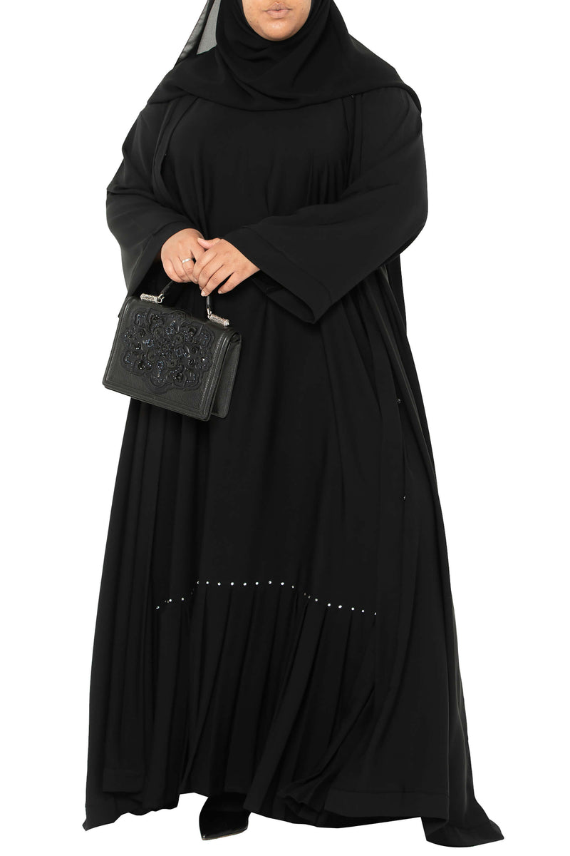 Plus Size Essential Maxi in Classic Black | Al Shams Abayas 6