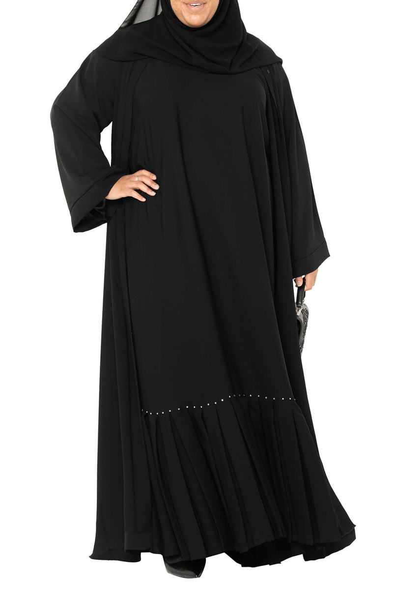 Plus Size Essential Maxi in Classic Black | Al Shams Abayas 12