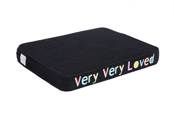 Very Very Loved Embroidered Pet Bed Multi