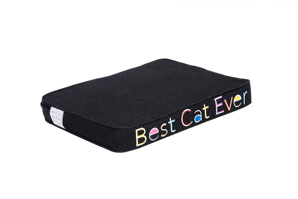 Best Cat Ever Embroidered Pet Bed Multi