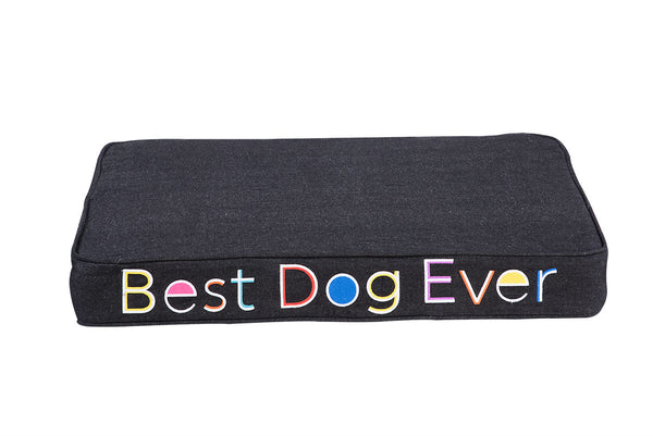 Best Dog Ever Embroidered Pet Bed Multi