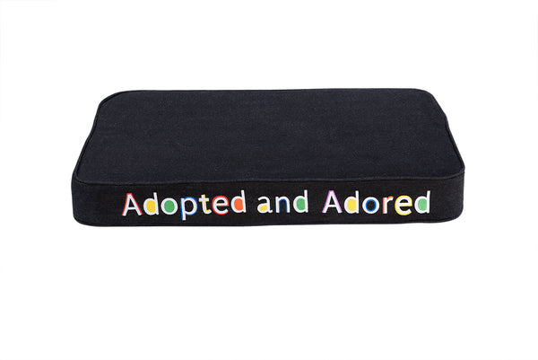 Adopted and Adored Embroidered Pet Bed Multi