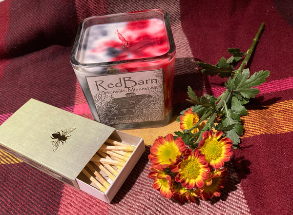 Red Barn Candle- Flannel