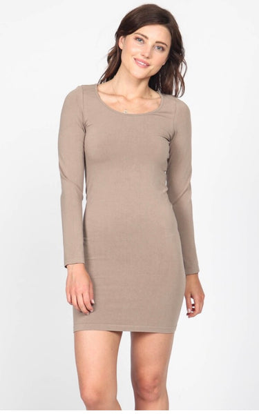 Long Sleeve Dress Tank - Sandstone