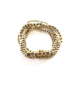 COURAGE Gold Beaded Bracelet