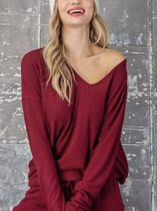 Long Sleeve Top (pairs with wine jogger pants!)