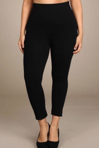 Crop Leggings (XL) (Black)