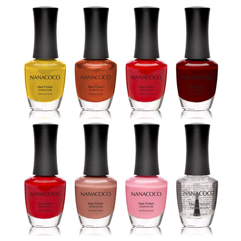 Nanacoco Fall Colors: Classic Collection Nail Polish - Set of 8