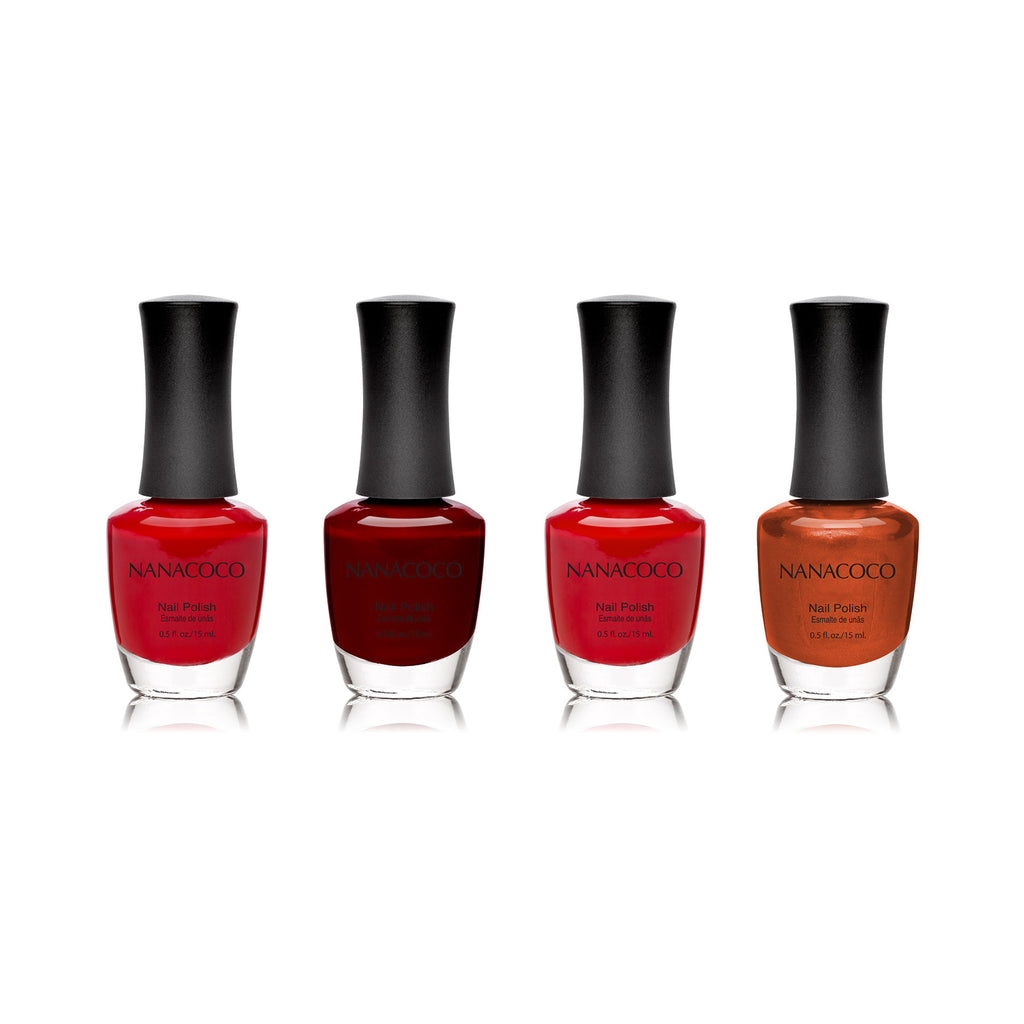 "Nanacoco ""Forbidden Love"" 4 Piece Nail Polish Set 20007-20010-20011-20017"