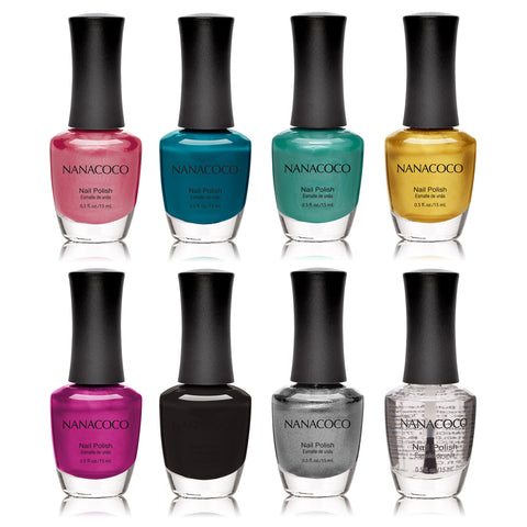 Nanacoco Summer Colors: Classic Collection Nail Polish - Set of 8
