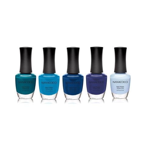 "Nanacoco ""Surfer's Dream"" 5 Piece Nail Polish Set"