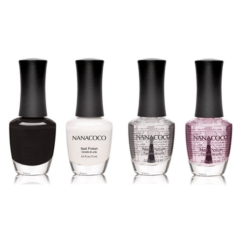 Black & White Collection: Four Piece Nail Polish Set