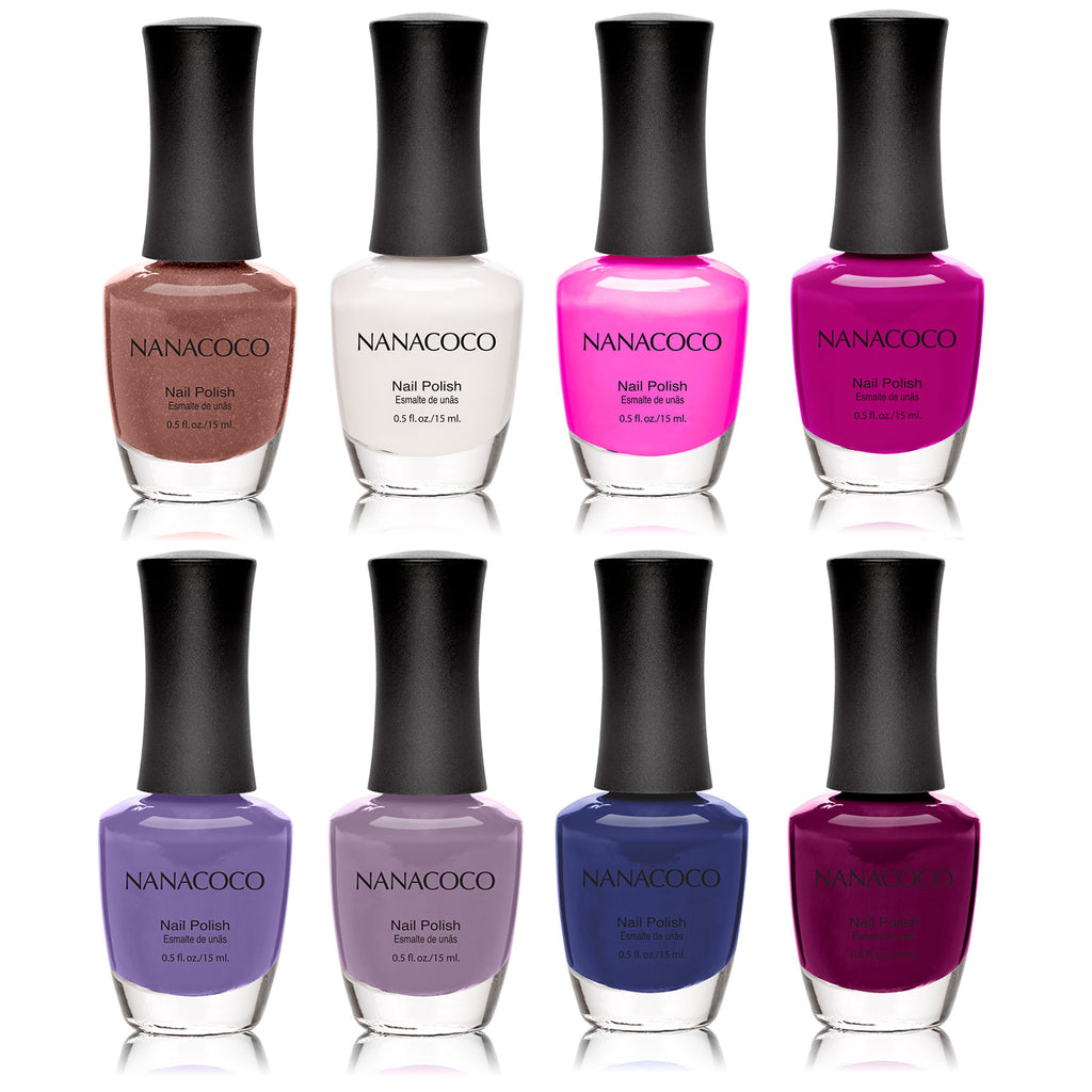 Nanacoco Purples: Classic Collection Nail Polish - Set of 8