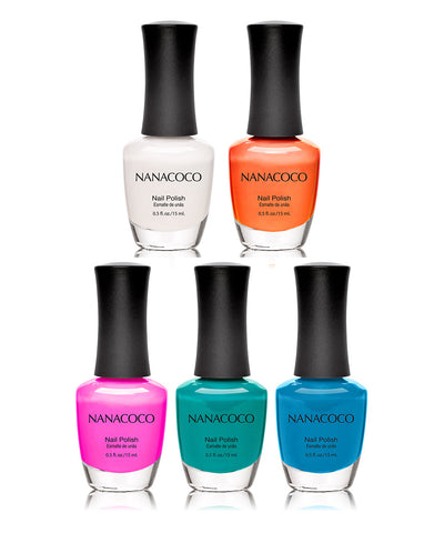 Pop of Color Collection : Five Piece Nail Polish Set