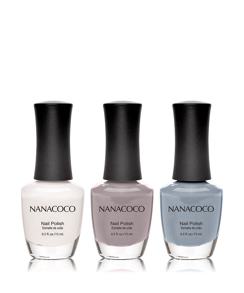 Grey Days Collection: Three Piece Nail Polish Set
