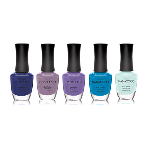 "Nanacoco ""Time After Time"" 5 Piece Nail Polish Set 21073-21074-21075-21076-21077"