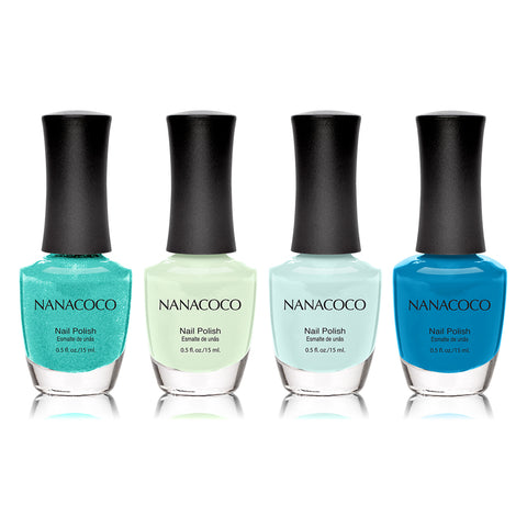 Nanacoco Minty Fresh: Classic Collection Nail Polish - Set of 4