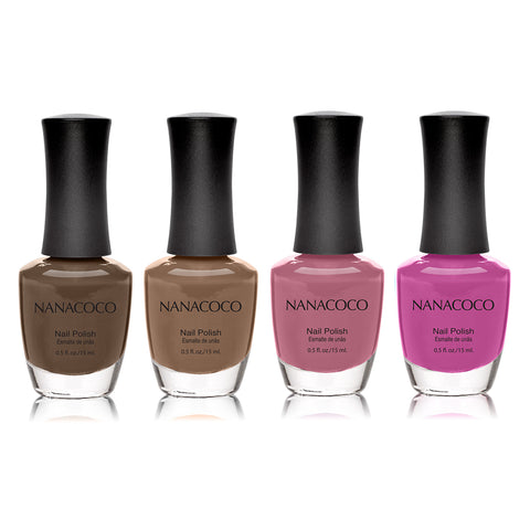 Nanacoco Browns: Classic Collection Nail Polish - Set of 4