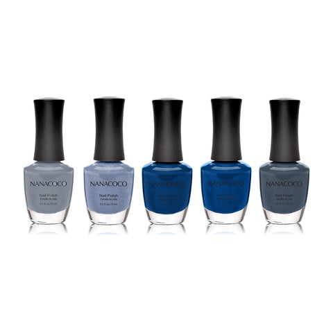"Nanacoco ""Wonderful World"" 5 Piece Nail Polish 21086-21087-21088-21089-21090"