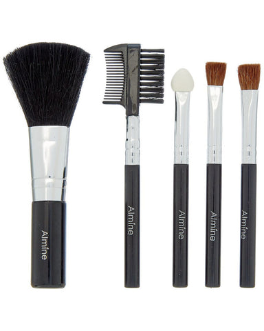 Glamour Status 6 Piece Travel Size Cosmetic Brush Set